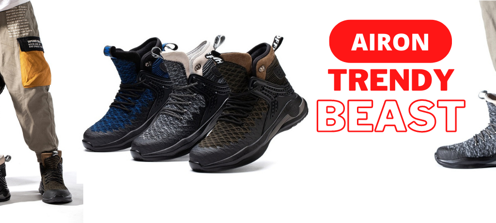 """Most Comfortable Safety Boot Trendy Beast -""""AIRON"""""""